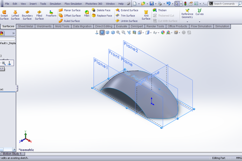 solidworks surface modeling tutorial