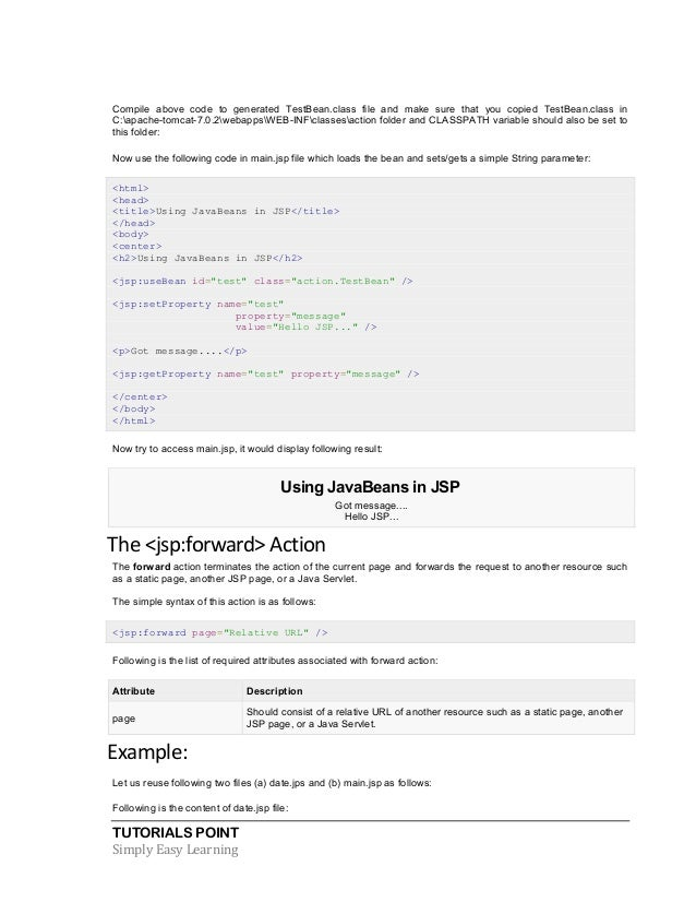 jsp tutorial with examples