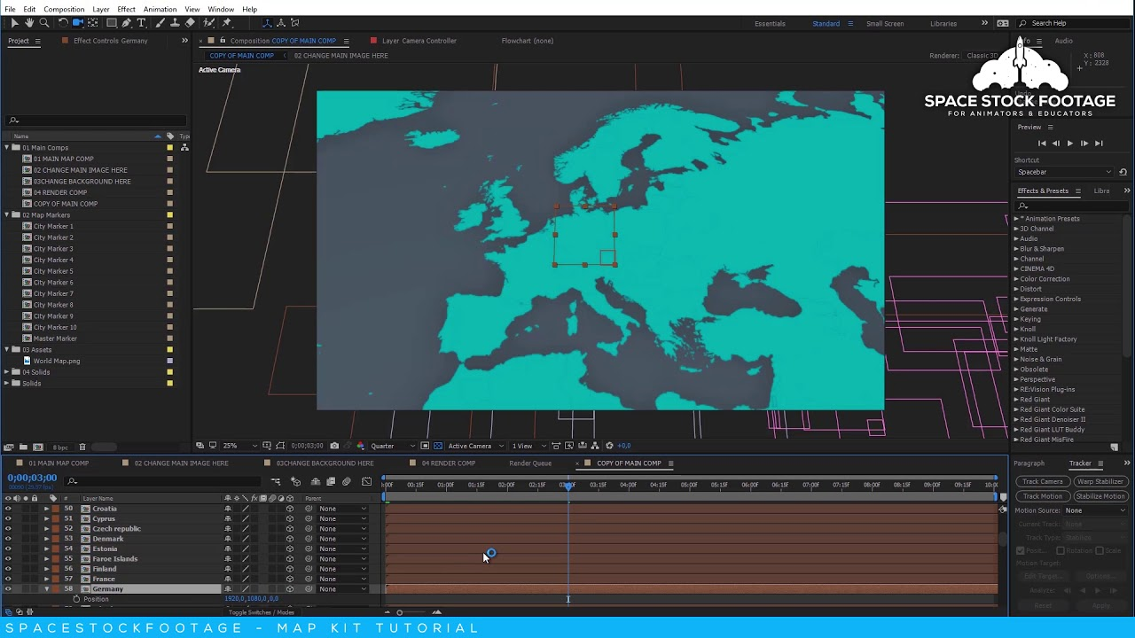 after effects tutorial map route