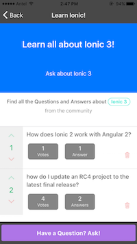 ionic 2 tutorial with two complete apps