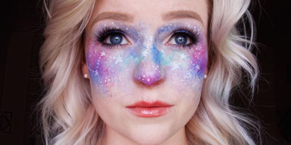 outer space makeup tutorial